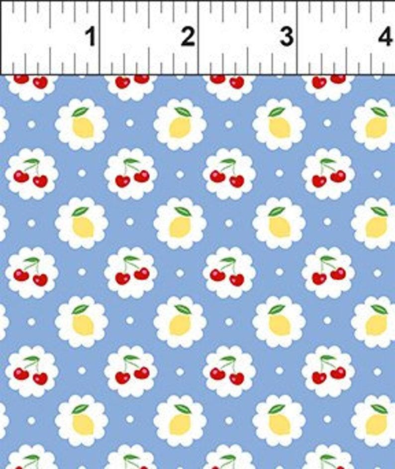 5CL-1 CHERRY LEMONADE LT Blue With Red CherriesYellow Lemons In The Beginning Fabrics Jason Yenter Fabric By The Yard Quilt Fabric