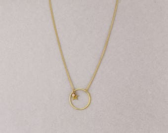 Ring and star necklace