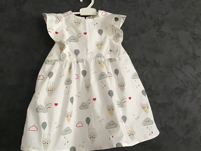 baby cloud dress with ruffles from 3 months to 4 years