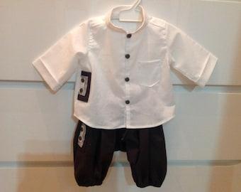 Complete set black sarouel and shirt