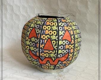 Spooky Halloween pumpkin, Jack o ' lantern, illuminated, party decoration, unique