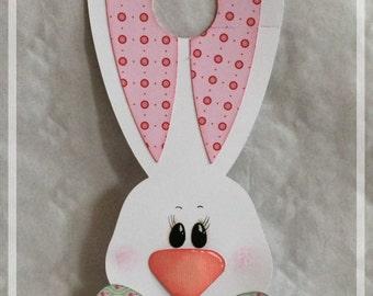 Door, Easter Bunny, Bunny, Rabbit, Easter, decoration, door, Easter, pink, green,