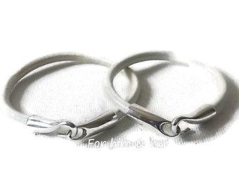 White leather engagement bracelet set