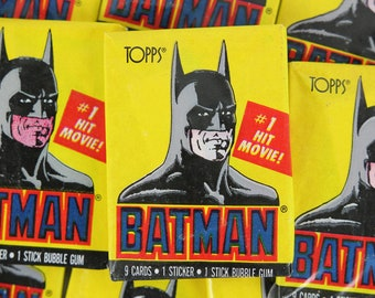Batman Trading Cards Collectibles Topps Ireland Complete Set B Batman 1989 In It's Box Without Original Packaging