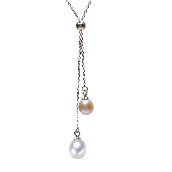 Wedding Jewelry Polished Rhodium- Plated P0406-PR Pearl Pendant 10 Pieces 2mm Tiny Pearl Charm