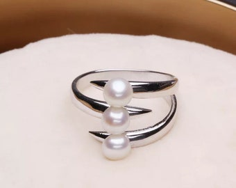 1 piece adjustable solid sterling silver ring setting, cute monster ring mounting, ring blank without pearl, jewelry DIY, gift DIY