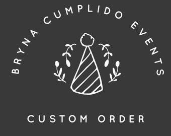 custom stationary design printing von brynacumplidoevents auf etsykundenordnung für bbenzaqu
