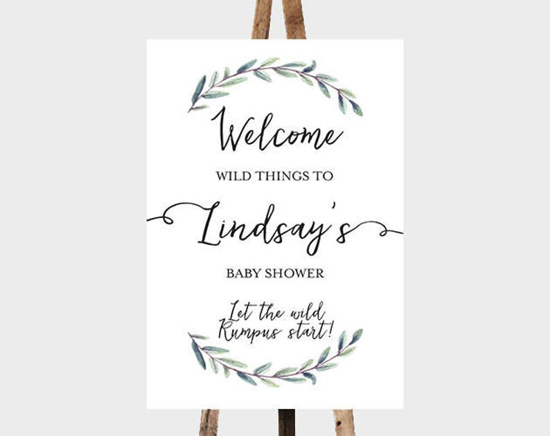 graphic relating to Let the Wild Rumpus Start Printable named PRINTABLE Welcome Wild Components Wild Rumpus Youngster Shower Indicator, In which The Wild Factors Are Welcome Poster, Allow The Wild Rumpus Commence Boy or girl Shower