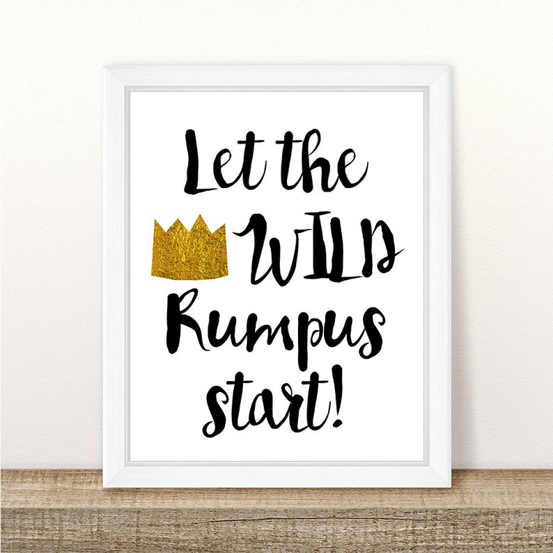 image regarding Let the Wild Rumpus Start Printable named Permit The Wild Rumpus Commence Printable, In which the Wild Aspects Are, Wild Rumpus Print, Wild Aspects Birthday, Get together, Wild Variables Shower, 8x10\