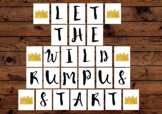 photo regarding Let the Wild Rumpus Start Printable called Allow The Wild Rumpus Begin Printable Banner, The place The Wild