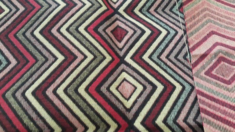 by the Meters Geometric,Striped Fabric,Kilim Fabrics,IKAT Turkish,Ottoman Kilim Style Coton Upholstery,Tribal Coton Ethnic,Tribal
