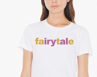 Fairytale Fate Short sleeve women's t-shirt in white, navy and black | Fairytale Bridal Shower Dreamy gifts for her | Lucky Star Dreams