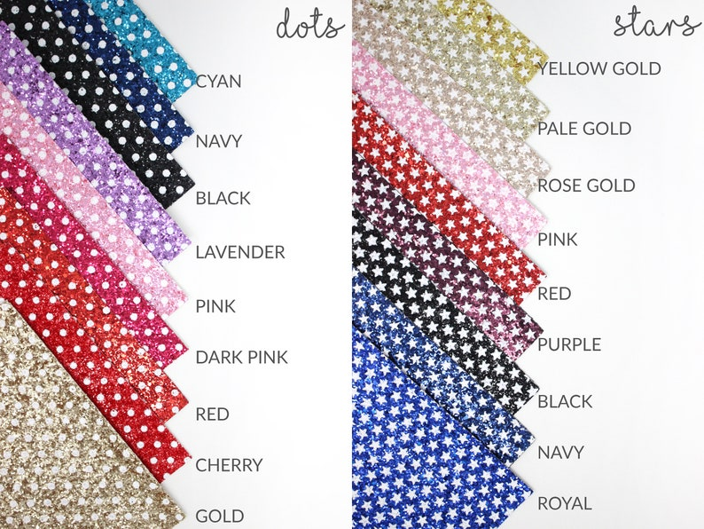 A4 or A5 Chunky Glitter Fabric Glitter Fabric 99+ Colors A5 Sheet Chunky Glitter Canvas for Hair Bow /& Crafts Choose Colors