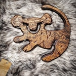 Hand-Carved * Simba ( The Lion King ) Wood Art Disney