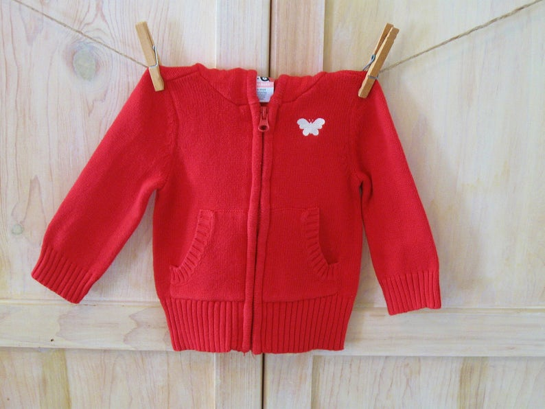 b8d857496 Baby Girl s Red Sweater 6 - 9 Months