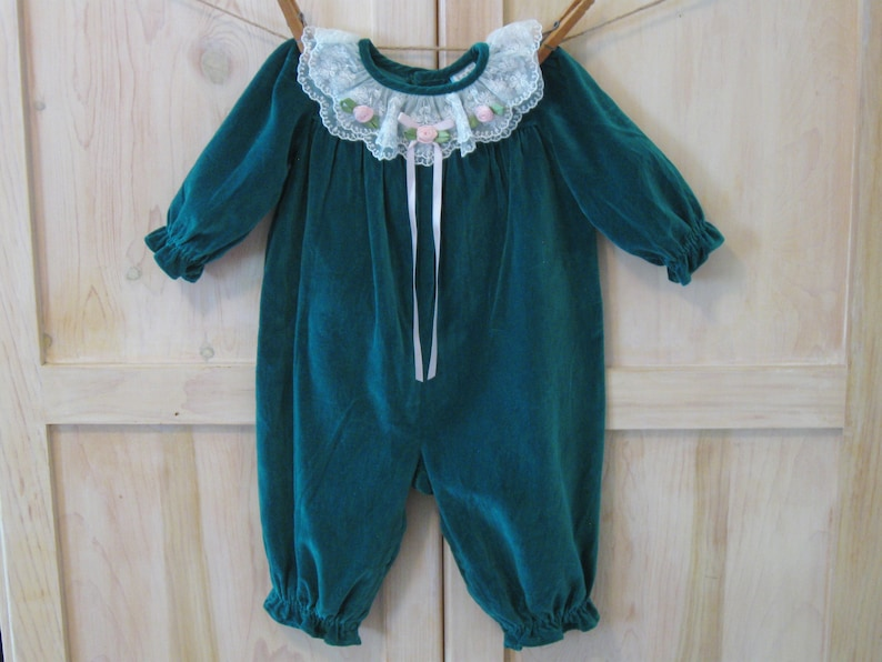 97c410ab2ab Baby Girl s Romper Outfit 6 9 Months Vintage Baby