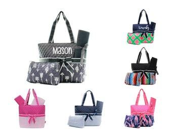Personalized Diaper Bag Set - Monogram Diaper Bag - Baby Shower Gift -  Personalized Nappy Bag - Diaper Bag for Boy - Diaper Bag for Girl fbad612dca