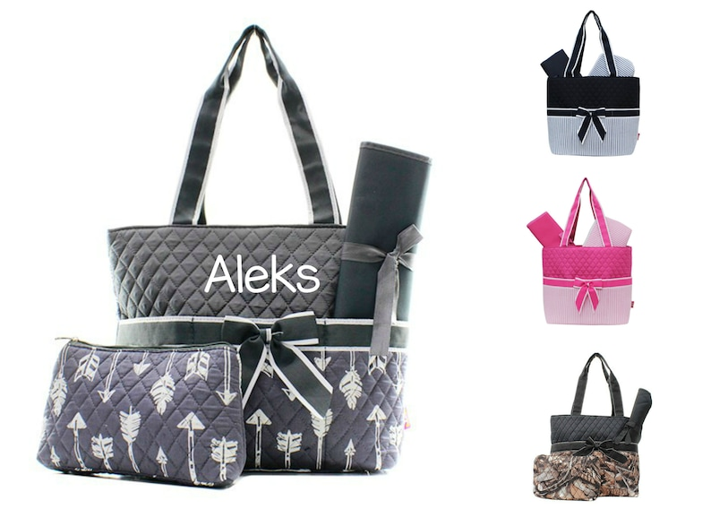 Personalized Diaper Bag Set image 0