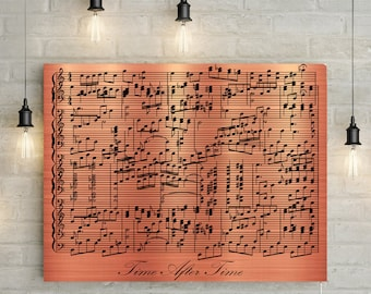 Copper Anniversary Custom Music Sheet - 7th Wedding Anniversary Gift First Dance/ Wedding Song Music Notes on Canvas & Copper anniversary | Etsy