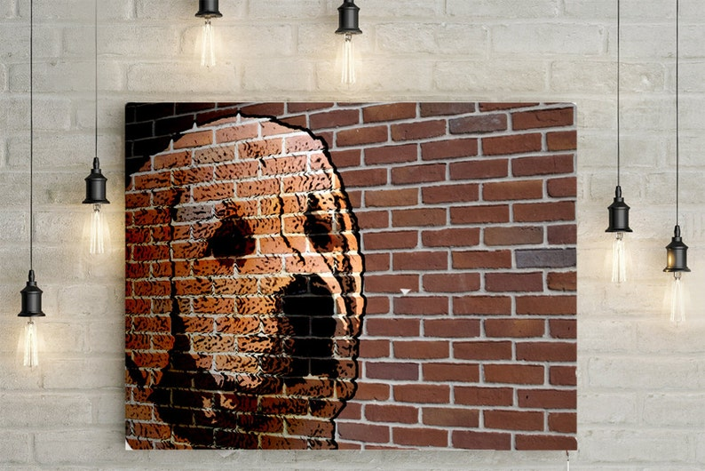 image relating to Printable Mural named Customized Canine Portrait/ Mural - Canvas Print or Printable Mural Effects Portrait