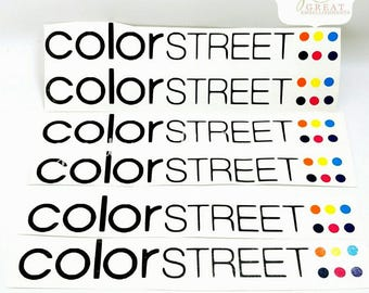 Color Street Decals for Car Window, Tumblers, Travel Tumblers, Laptop Computers, Tablets, Water Bottles, Yeti-Type cups