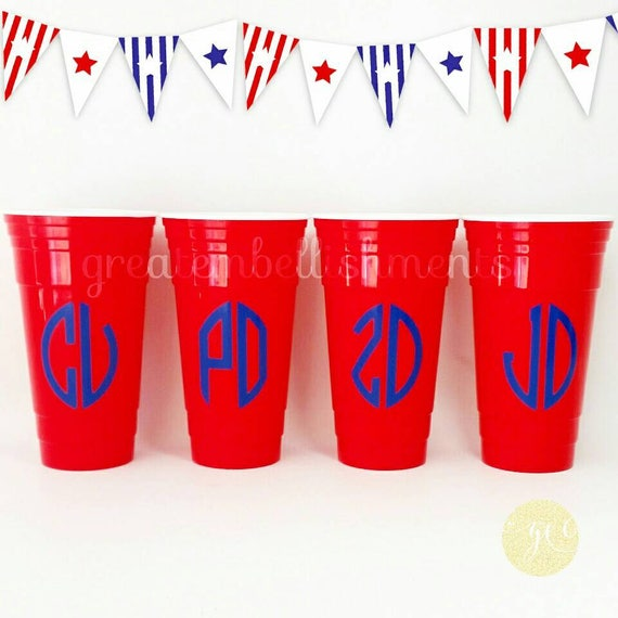 reusable 32oz solo cup personalized solo cups monogrammed etsy