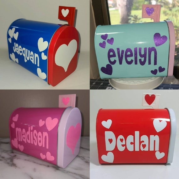 Mini Valentine/'s Mailbox  Personalized  Kids  Valentine/'s Gift For Kids  Cute Valentine/'s Mailbox  Vinyl Decoration  Candy Container