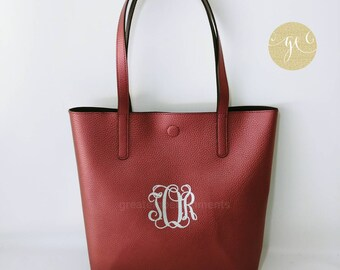 Mother's Day Gift, Custom Tote Bag, Personalized Reversible Tote Bag,Personalized and and Custom Bags, Monogrammed Purse, Glimmer Tote Bag