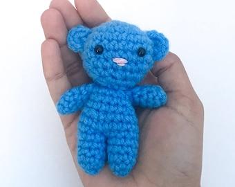 Blue Teddy Bear // Amigurumi Plush Toy