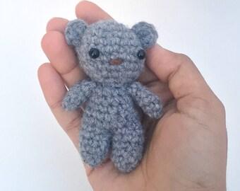 Grey Teddy Bear // Amigurumi Plush Toy