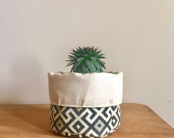 Mini Geometric Fabric Bin Basket