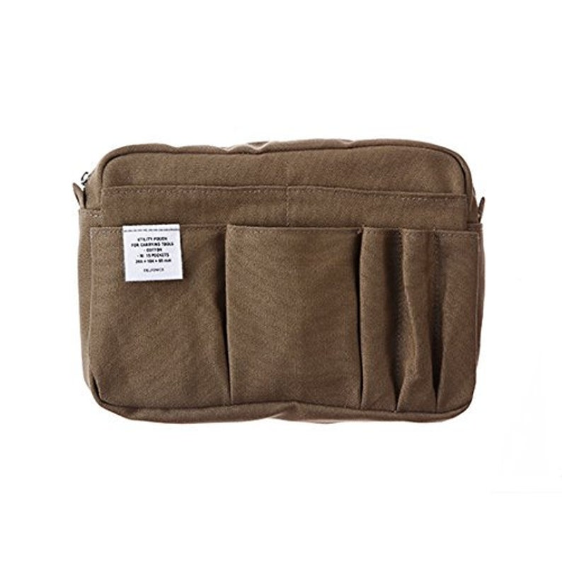 DELFONICS Inner Carrying  Cotton Pouch Medium size Olive Bag in Bag from Japan