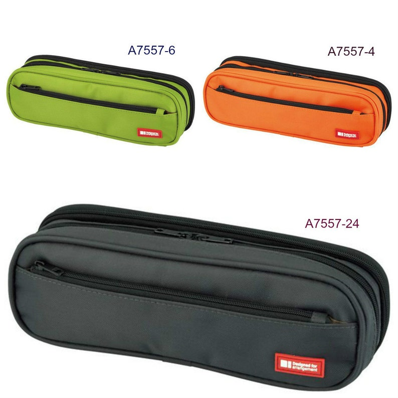 Lihit Lab  Pen Case 2WAY Type double 3 Colors A7557 240mm × 60mm × 75mm  from Japan Gift New Free Shipping,with tracking number