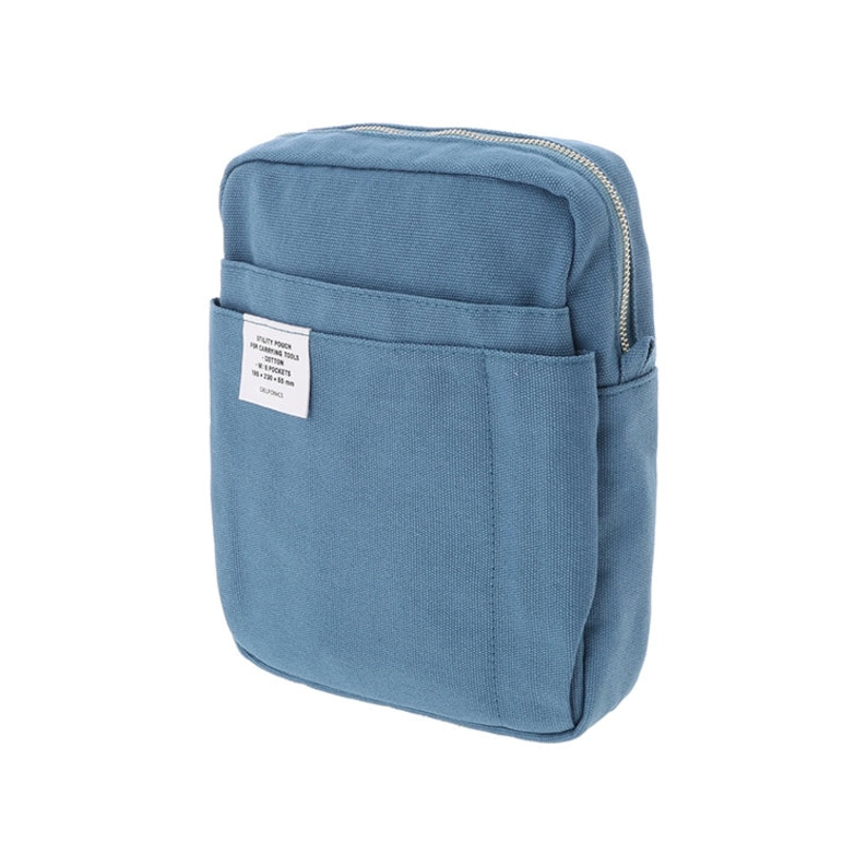 8 colors Bag in Bag  from Japan DELFONICS Inner Carrying  Cotton Pouch Medium size Vertical
