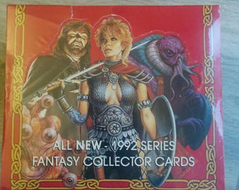NIB 1992 Factory Sealed Advanced DUNGEONS & DRAGONS 2nd Edition Fantasy Collector Cards 36 Packs, 16 cards per pack