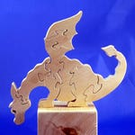 Wooden Dragon Puzzle for Toddlers to Adults, Cute, Handmade
