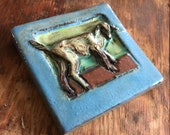 Small Goat Tile (4 x 4 in...