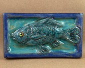 Horizontal Fish Swimming Left Tile #3 (3 x 6 inch aprox)