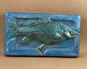 Horizontal Fish Swimming Right Tile #2 (3 x 6 inch aprox)