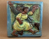 Twirling Contra Dancers #2 (6 x 6 inch aprox)