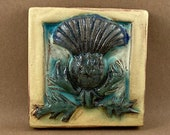 Thistle Tile #2 (4 x 4 inch aprox)