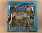 Horse Tile - Bay #1 (6 x 6 inch aprox)