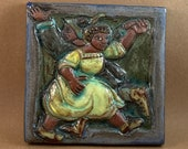 Twirling Contra Dancers #1 (6 x 6 inch aprox)