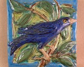 Blue Bird on Branch Tile (6 x 6 inch aprox)