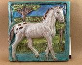 Horse Tile - Few Spot Leopard Appaloosa (6 x 6 inch aprox)