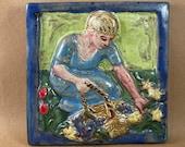Gardener Tile (6 x 6 inch aprox)