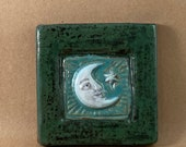 Moon and Star Tile (4 x 4 inch aprox)