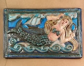 Mermaid with Brush and Comb  (12 x 8 inch aprox)