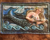 Mermaid with Lute Tile (1...