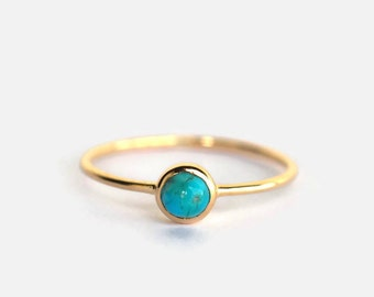 turquoise ring, December birthstone, dainty turquoise ring, natural turquoise ring silver, turquoise ring gold, turquoise ring women